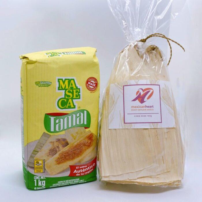 Tamales kit - Corn husk (majsblade) og tamales mel
