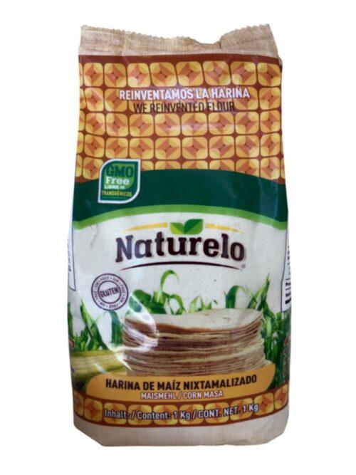 Naturelo hvid majsmel - masa harina 1 kg Glutenfri og GMO fri